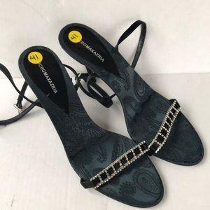 BCBGMAXAZRIA Strappy Jeweled Heels 10B NWOB